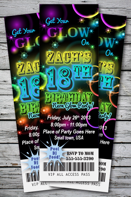 Glow In Dark Party Invitations for nice invitations example